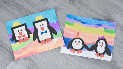 Winter Penguin Shape Crafts
